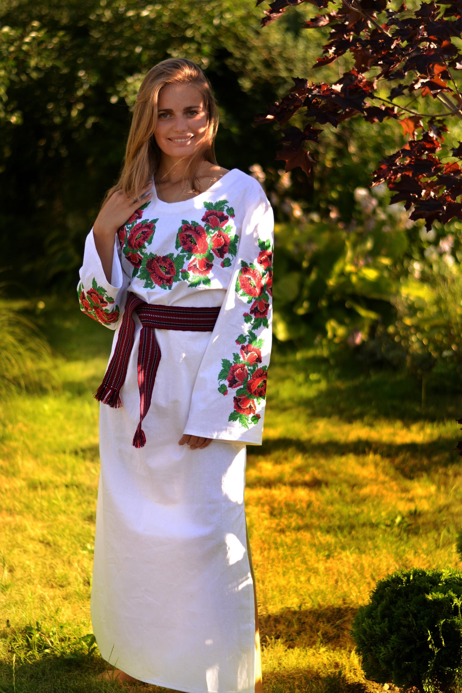Жіночі вишиванки · Жіночі вишиті плаття і сукні · Маки-сукня · Маки-сукня 971011c85454f